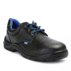 Allen Cooper AC-7005 Low Ankle Black Steel Toe Safety Shoes, Size: 7
