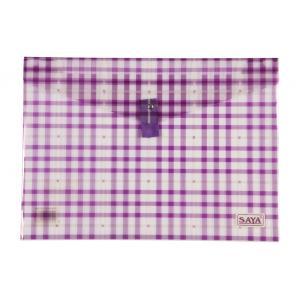 Saya Purple Clear Bag Superior, Dimensions: 340 X 15 X 350 Mm,...