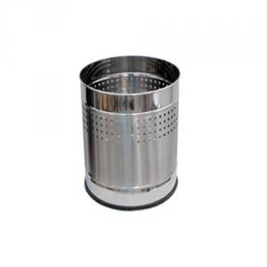 SS Silverware 10 Litre Stainless Steel Perforated Design Round Planter
