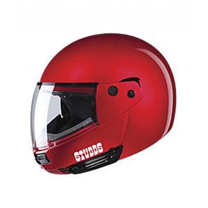 Studds Ninja Pastel Plain Flip Up Cherry Red Full Face Helmet,...