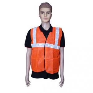 Safari 2 inch Orange Cloth Reflective Safety Jacket, 60 GSM