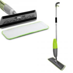 Kawachi Floor Mop with Integrated Water Spray Removable Washable Cleaning Microfiber Pad