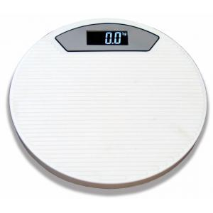 Weightrolux Digital Personal Body Weight Electronic Bathroom Weighing Scale, ABS-Round-White