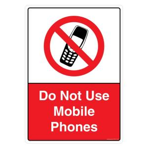 buy safety sign store do not use mobile phones sign board