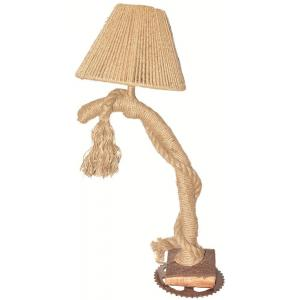 Aadhya Creations Wood And Jute Table Lamp, AC13WL004