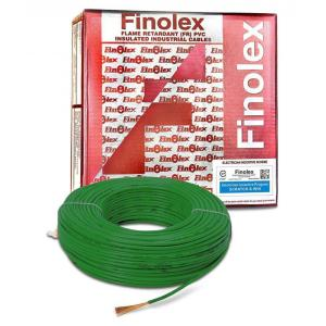 Finolex 90m Green Flame Retardant PVC Insulated Industrial Cable,...