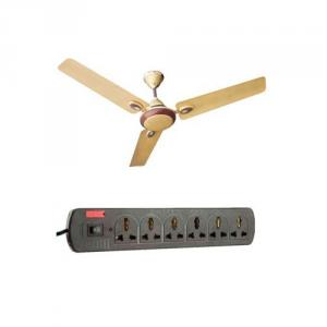 Urja Lite 1200mm Golden Brown Aluminium Wounded Ceiling Fan with EGK Extension Cord