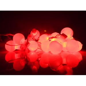 Tucasa Florocent Red LED Ball String Light, DW-339