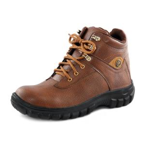 Timberwood Mid Ankle Steel Toe Tan Safety Shoes, Size: 9