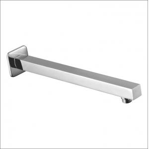 Kamal Stainless Steel Square Shower Arm 15 Inch, ARM-0204