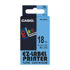 Casio XR-18BU1 Label Printer Tape Cartridge, Length: 8 M
