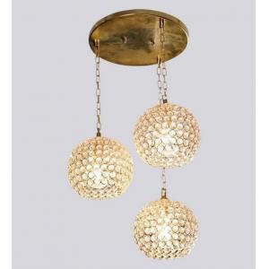 The Brighter Side Round Crystal Small Hanging Lights (Pack Of 3)