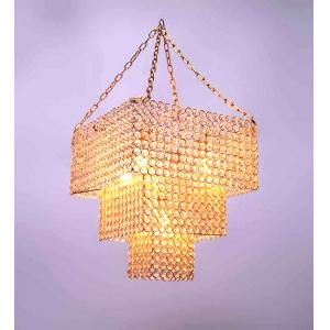 The Brighter Side Crystal Square 3 Tier Chandelier
