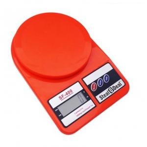Stealodeal 7 Kg Red Electronic Kitchen Weighing Scale, SF-400