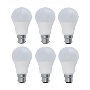 Syska 9W B-22 White LED Bulbs (Pack Of 6)