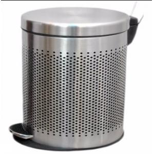 SBS 5 Litre Stainless Steel Perforated Pedal Bin, Size: 203x330 mm