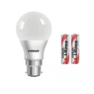 Eveready 7W B-22 LED Bulbs With 2 Batteries (Pack Of 10)
