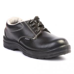 Polo Steel Toe Black Safety Shoes, Size: 8