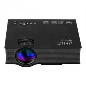 Unic 1200 Lumen Portable Black Multimedia HD Mini LED Projector, UC46