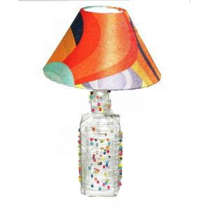 Aadhya Creations JD Beads Fun Shades Of Orange Table Lamp, AC13BL034