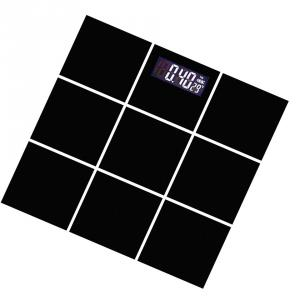 Weightrolux Digital Personal Body Weight Electronic Glass Bathroom Weighing Scale, EPS-2009Black