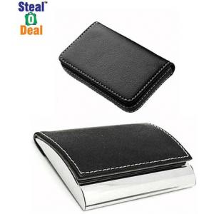 Stealodeal Black Side Elegant Visiting with Leather Card Holder