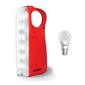 Eveready HL56 Red Rechargeable Emergency Light with 7W Led Bulb