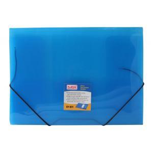 Saya Tr. Blue Elastic Folder, Dimensions: 250 X 35 X 360 Mm (Pack...