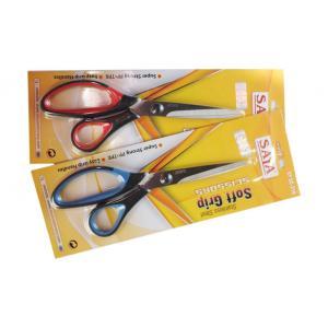 Saya Blue-black, Red Black Soft Grip Scissors -Classic (Pack Of 12)