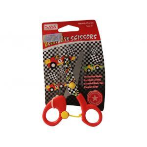 Saya Red Designer Kids Scissor, Dimensions: 120 X 65 X 8 Mm (Pack...