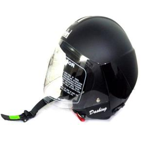 Steelbird Cruze Dashing Black Open Face Helmet, Size: Large