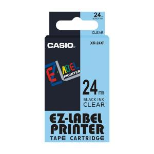 Casio XR-24X1 Label Printer Tape Cartridge, Length: 8 M