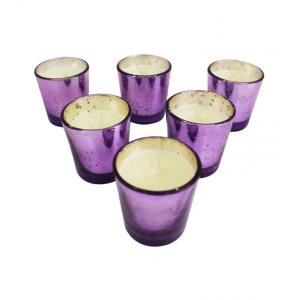 Tezerac Purple (Lavender) Mercury Candles (Pack Of 6), LL- 129