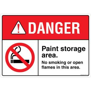 Safety Sign Store Danger: Paint Storage Area Sign Board, FE710-A4V-01