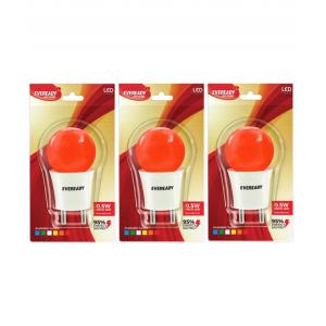 Eveready 0.5W Red T Deco LED Plug & Play Bulbs (Pack Of 3)