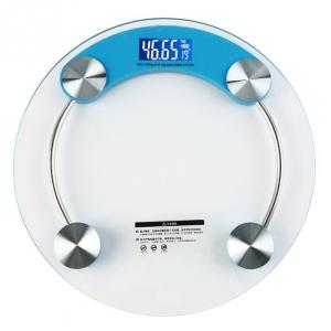 Weightrolux Digital Personal Body Weight Electronic Glass Bathroom Weighing Scale, EPS-2003Blue