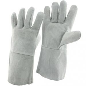 JB White Leather Industrial Hand Gloves, Size: 12 Inch (Pack Of 5)