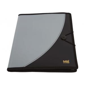 Saya Metallic Black Executive Portfolio, Dimensions: 265 X 15 X 330 Mm
