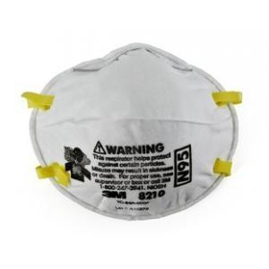 3M Particulate Respirator Mask 8210, N95 (Pack of 16)