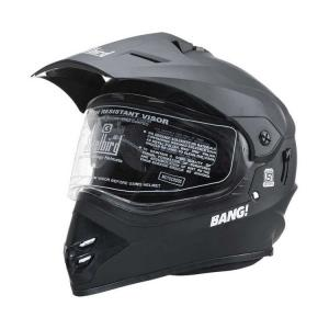 Steelbird SB42 Bang Motocross With Double Visor Matte Black Full...