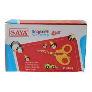 Saya Red Designer Kids Scissor, Dimensions: 160 X 115 X 100 Mm...