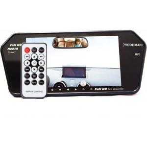 Woodman 7 Inch Car Video Monitor With USB Black LED