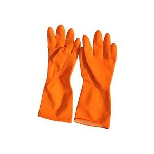 JB Orange Rubber Acid Hand Gloves, Size: 10 Inch (Pack Of 5)