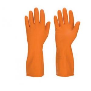 Chemisafe Orange Rubber Hand Gloves (Pack of 3)