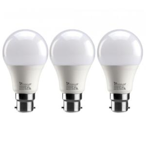 Syska 9W B-22 PAG LED Bulbs, SSK-PAG-9W (Pack Of 3)