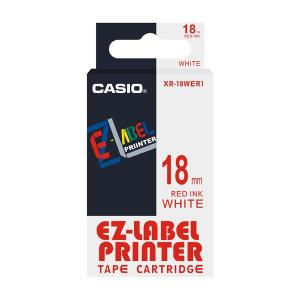 Casio XR-18WER1 Label Printer Tape Cartridge, Length: 8 M