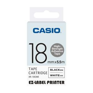 Casio XR-18GWE Label Printer High Strength Adhesive Tape Cartridge,...