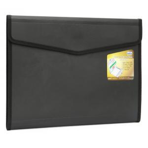 Solo Executive Portfolio (6 Section With Pad), EF886, Size: A4, Colour: Black