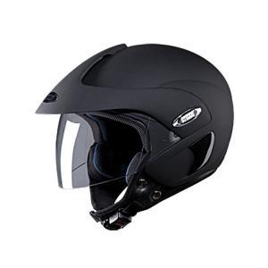 Studds Marshall Matte Black Open Face Helmet, Size: Large