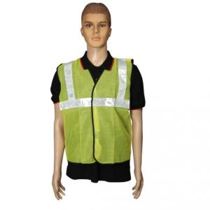 Safari 2 inch Yellow Cloth Reflective Safety Jacket, 60 GSM